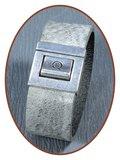 QúeB Memorials  Lederen Gedenk Armband - ZA003G