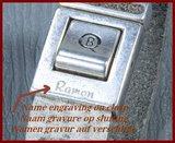 QúeB Memorials  Lederen Gedenk Armband - ZA003G_