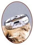 Tungsten Carbide Graveer Gedenk Ring - TUR001R
