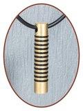 Titanium JB Memorials Premium Goud Design Ashanger - T016