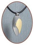 Titanium JB Memorials Premium 'Traan Goud' Design Ashanger - T018