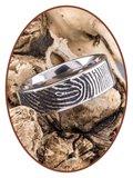 JB Memorials Titanium Vingerafdruk Gedenk Ring - TIR002
