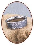 JB Memorials Titanium Vingerafdruk Gedenk Ring - TIR002VK