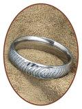 316L Edelstalen Gegraveerde Vingerafdruk Gedenk Ring - TR004