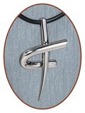 Titanium JB Memorials Premium 'Kruis' Design Ashanger - T005