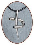 Titanium JB Memorials Premium 'Kruis' Design Ashanger - T005_