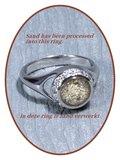 JB Memorials Zilver / Rhodium Zirconia Dames As / Haarlok Ring - RB052_