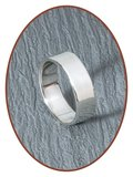 JB Memorials Sterling Zilveren Tekst Gedenk Ring 6mm - RB065_