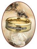 JB Memorials Tungsten Carbide Goud Heren As Ring - RB045G