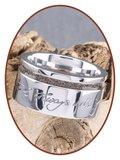 JB Memorials Cobalt Chrome Brede Dames Handschrift As Ring - RB046DH