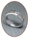 JB Memorials Cobalt Chrome Dames As Ring NIEUW - RB047CC