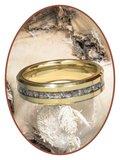 JB Memorials Tungsten Carbide Goud Dames / Heren As Ring - RB048G