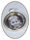 Edelstalen Foto / Vingerafdruk Graveerplaatje voor Merken Munthouders 33 en 25mm - MH001