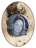Edelstalen Foto / Vingerafdruk Graveerplaatje voor Merken Munthouders 33 en 25mm - MH001_
