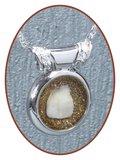 Rhodium/Zilveren JB Memorials Design Melktand Assieraad - PR001