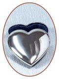 Graveerbare Memory Box / Mini Urn 'Heart' - JB1010