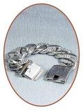 Edelstalen RVS  Heren Vingerafdruk Gedenk Armband - JBF006_