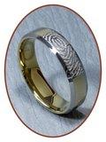 Tungsten Carbide Vingerafdruk Graveer Ring - AA002V