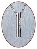 Edelstalen/RVS JB Memorials Premium 'Rainbow' Ashanger - B005