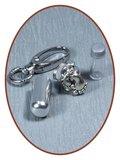 Aluminium Askoker / Sleutelhanger 'Voetjes' - ALU03VO