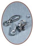 Aluminium Askoker / Sleutelhanger 'Vlinder' - ALU03V