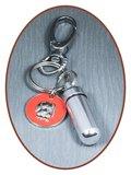 Aluminium Askoker / Sleutelhanger 'Hond' - ALU03C