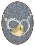 Close2Me© 'Golden Heart' Sterling Zilveren Ashanger - CM010