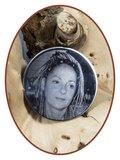 Edelstalen Spiegelgepolijst Foto / Vingerafdruk Graveerplaatje - GR011_