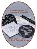 Gedenk / Graveer platen in vele materialen en vormen - GRAV001