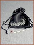 Edelstalen/RVS Hart 'Kruis' Zirkonia Design Ashanger - B129_