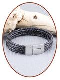 JB Memorials Edelstahl Leder Asche Armband - VAS001