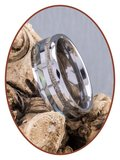 JB Memorials Exclusive Natureline Abalone Shell Tungsten Facet As Ring - WR009_