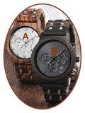 JB Memorials Nature-Line© Houten Heren As Chronograaf Horloge - HORL001_