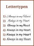 Mini As Urn 'Always in my heart' in Diverse Afmetingen - HM423_