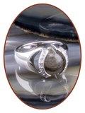 Close2Me© 'Always With Me' Sterling Zilveren Haarlok Ring - CM015H_