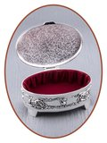 Graveerbare Memory Box / Mini Urn 'Oval' - M389_