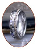 JB Memorials Exclusive Natureline Abalone Shell Tungsten As Ring 6mm - WR008D_
