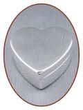 Graveerbare Memory Box / Mini Urn 'Heart' - M393_
