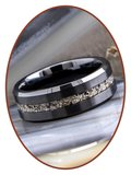 JB Memorials Ceramic Zirconium Heren As Ring - RB048B