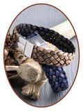 JB Memorials Edelstalen RVS / Leren (As) Armband met vulschroef - VAS001V_