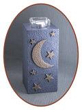 Mini / Midi As Urn 'Moon & Stars' met Theelicht Houder - HM287MS_