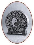 Mini As Urn 'Mandala Yin Yang' in Diverse Kleuren - HM427A_