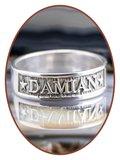 JB Memorials Sterling Zilveren Naam Gedenk Ring - RB067N