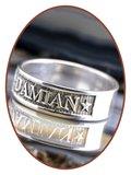 JB Memorials Sterling Zilveren Naam Gedenk Ring - RB067N_
