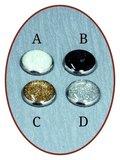 Rhodium/Zilveren JB Memorials Design Melktand Assieraad - PR001_