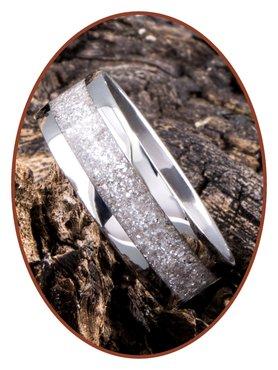 JB Memorials Edelstalen As Ring 'Sparkling White' - CRA012