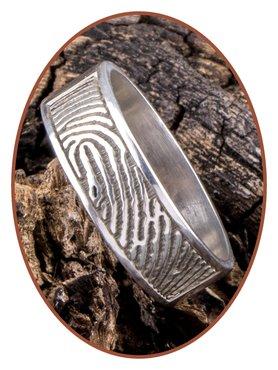 JB Memorials Sterling Zilveren Vingerafdruk Gedenk Ring - RB067VA