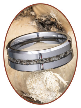 JB Memorials Tungsten Carbide Heren  As Ring - RB048H