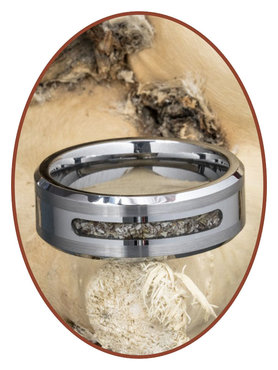 JB Memorials Tungsten Carbide Heren As Ring - RB045