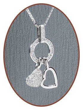 925 Sterling Zilveren 'Heart' Special Ashanger  - ZSP158